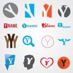 Set of alphabet symbols of letter Y — Stock Vector #57221841