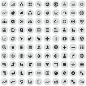 100 diagram icon — Stock Vector