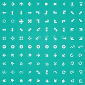 100 Arrows icons — Stock Vector