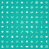 100 baby, kids icons — Stock Vector