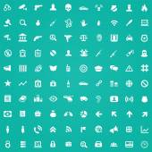100 crime, justice icons — Wektor stockowy