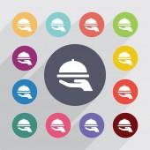 Schotel cirkel, plat pictogrammen instellen — Stockvector