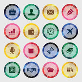 Set of business icons on colored, circle — Stock vektor
