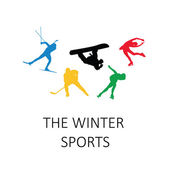 The winter sports, silhouettes — Stock Vector