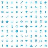 100 award icons — Stock Vector