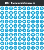 100 communication icons — Stockvektor