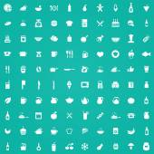 100 cooking icon — Stock Vector