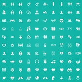 100 couple icon — Stock Vector