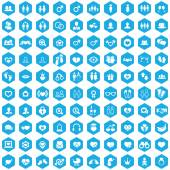 100 couple icons — Stock Vector