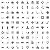 100 company icons — Stock Vector