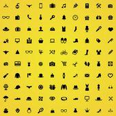 100 accessories icons — Stock vektor