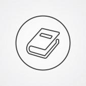 Buch Gliederungssymbol dunkel auf weißem Hintergrund, Logo templat — Stockvektor
