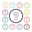 Ear flat icons set — Stock Vector #67191945