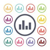 Equalizer flat icons set — Stock Vector