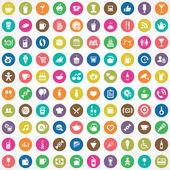 100 cafe icons — Vetor de Stock
