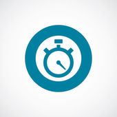 Timer icon bold blue circle border — Vector de stock