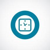 Bordo di tempo icona cerchio blu grassetto — Vettoriale Stock