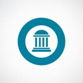 Building icon bold blue circle border — Vecteur