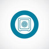 Bank safe icon bold blue circle border — Wektor stockowy