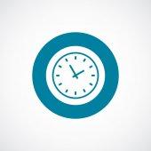 Time icon bold blue circle border — Stock Vector