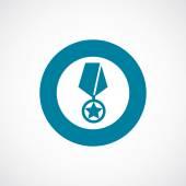 Medal icon bold blue circle border — Stock Vector