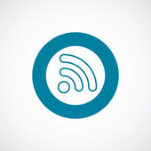 Wifi icon vet blauwe cirkel grens — Stockvector
