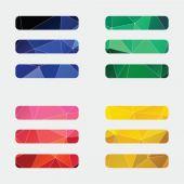 List icon Abstract Triangl — 图库矢量图片