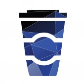 Coffee icon Abstract Triangle — Stock Vector