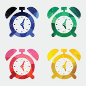 Alarm clock icon Abstract Triangl — Stock Vector