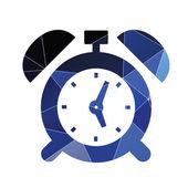 Alarm clock icon Abstract Triangle — Stock Vector