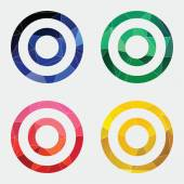 Target icon Abstract Triangl — 图库矢量图片