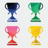 Cup icon Abstract Triangle — Stock Vector