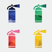 Fire extinguisher icon Abstract Triangle — Stock Vector