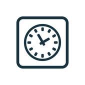 Icona di tempo butto quadrati arrotondati — Vettoriale Stock