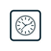 Time icon Rounded squares butto — Stock Vector