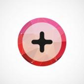 プラス円ピンク ・ トライアングル背景 ico — ストックベクタ