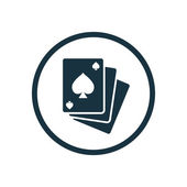 Poker icon — Stock Vector