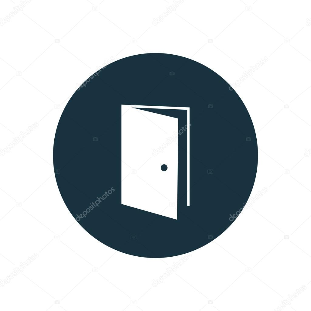 Open Door Icon Vector Open Door Icon on White