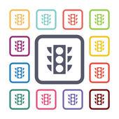 Traffic light flat icons set — Stock Vector