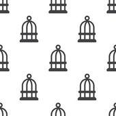 Bird cell, vector seamless pattern — Stock Vector