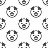 Pig, vector seamless pattern — Stock Vector
