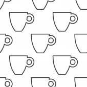 Coffee, vector seamless pattern — Stock Vector