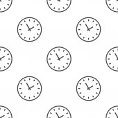 Time, vector seamless pattern — Stock Vector