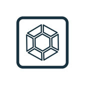 Diamond icon Rounded squares button — Stock Vector
