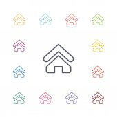 Home flat icons set — Stock Vector