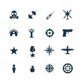 Set of army icons — Stock Vector