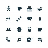 Cafe icons set — Stock Vector