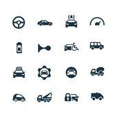 Car icons set — Stock Vector