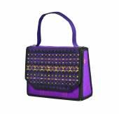 Handbag made of Thai silk patterns Mudmee from Banmi Lopburi, Th — Stock Photo