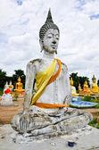 Buddha statue in temple at Supanburi, Thailand — Stock Photo